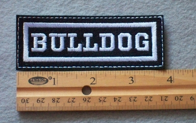 843 L - Bulldog Embroidered Patch
