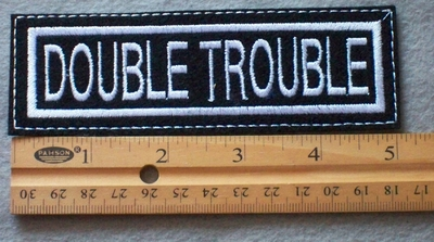 854 L - Double Trouble Embroidered Patch
