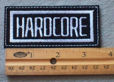 866 L - Hard Core Embroidered Patch
