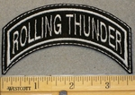 Rolling Thunder - Mini Top Rocker - Embroidery Patch