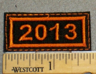 2093 L - Year 2013 Mini Patch - Embroidery Patch