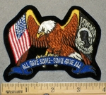 2084 R - All Gave Some - Some Gave All - Bald Eagle With American Flag And POW-MIA Within Wings - Embroidery Patch