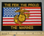 2079 W - The Few The Proud - The Marines - With American Flag And Marine Logo - Embroidery Patch