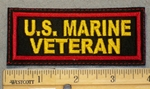 2088 L - U.S. Marine Veteran - Yellow Lettering - Embroidery Patch