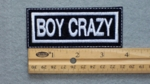 182 L - BOY CRAZY - EMBROIDERY PATCH