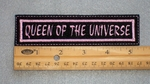 191 L - QUEEN OF THE UNIVERSE - EMBROIDERY PATCH - PINK