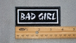192 L - BAD GIRL - EMBROIDERY PATCH - WHITE