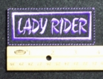 167 L - LADY RIDER - EMBROIDERY PATCH - PURPLE