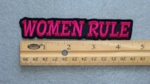 332 L - WOMEN RULE - EMBROIDERY PATCH