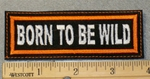 1858 L - Born To Be Wild - Orange - Embroidery Patch