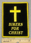 1837 G - Bikers For Christ With Christ - Embroidery Patch