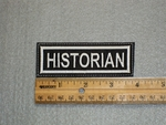 1523 L - Historian - Embroidery Patch