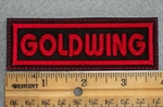 1606 L - Goldwing - Red - Embroidery Patch