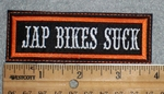 1649 L - Jap Bikes Suck - Embroidery Patch