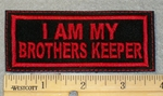 1854 L - I Am My Brothers Keeper - Red Border - Embroidery Patch