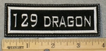 1834 L - 129 Dragon - Embroidery Patch