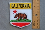 CALIFORNIA STATE FLAG SHIELD - EMBROIDERY PATCH