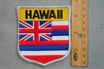 HAWAII STATE FLAG SHIELD - EMBROIDERY PATCH