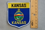 KANSAS STATE FLAG SHIELD - EMBROIDERY PATCH
