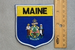 MAINE STATE FLAG SHIELD - EMBROIDERY PATCH
