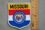 MISSOURI STATE FLAG SHIELD - EMBROIDERY PATCH