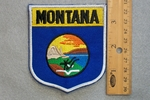 MONTANA STATE FLAG SHIELD - EMBROIDERY PATCH