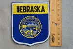 NEBRASKA STATE FLAG SHIELD - EMBROIDERY PATCH