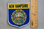 NEW HAMPSHIRE STATE FLAG SHIELD - EMBROIDERY PATCH