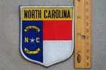 NORTH CAROLINA STATE FLAG SHIELD - EMBROIDERY PATCH