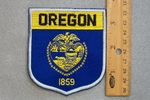 OREGON STAT FLAG SHIELD - EMBROIDERY PATCH