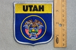 UTAH STATE FLAG SHIELD - EMBROIDERY PATCH