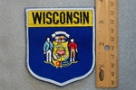 WISCONSIN STATE FLAG SHIELD - EMBROIDERY PATCH