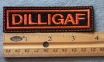852 L - DILLIGAF -  Embroidery Patch