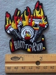 846 N - Born To Run Embroidered Patch