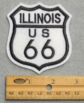 740 L - Illinois Route 66 Sign Embroidered Patch