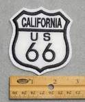 724 L - California Route 66 Sign Embroidered Patch