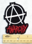 194 N - ANARCHY A - EMBROIDERY PATCH