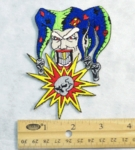 196 N - JESTER WITH SKULL - EMBROIDERY PATCH