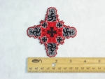 202 N - DISCONTINUED IRON CROSS FRACTAL DESIGN - EMBROIDERY PATCH