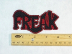210 N - FREAK - EMBROIDERY PATCH