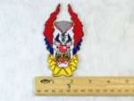 213 N - EVIL CLOWN - EMBROIDERY PATCH - SMALL