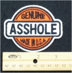 236 N - GENUINE ASSHOLE - EMBROIDERY PATCH
