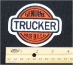 238 N - GENUINE TRUCKER - EMBROIDERY PATCH