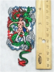 241 N - DRAGON AND NAKED HOT GIRL - EMBROIDERY PATCH