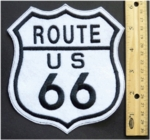 248 L - ROUTE 66 - EMBROIDERY PATCH - MEDIUM 6'