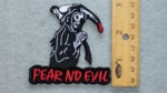 255 N - FEAR NO EVIL GRIM REAPER - EMBROIDERY PATCH
