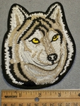 1513 G - Wolf Face - Embroidery Patch