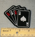 1826 L - Four Aces - Embroidery Patch