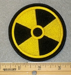 1852 W - Radio Active Hazard Symbol - Embroidery Patch