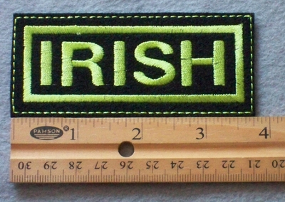 869 L - Irish Embroidered Patch